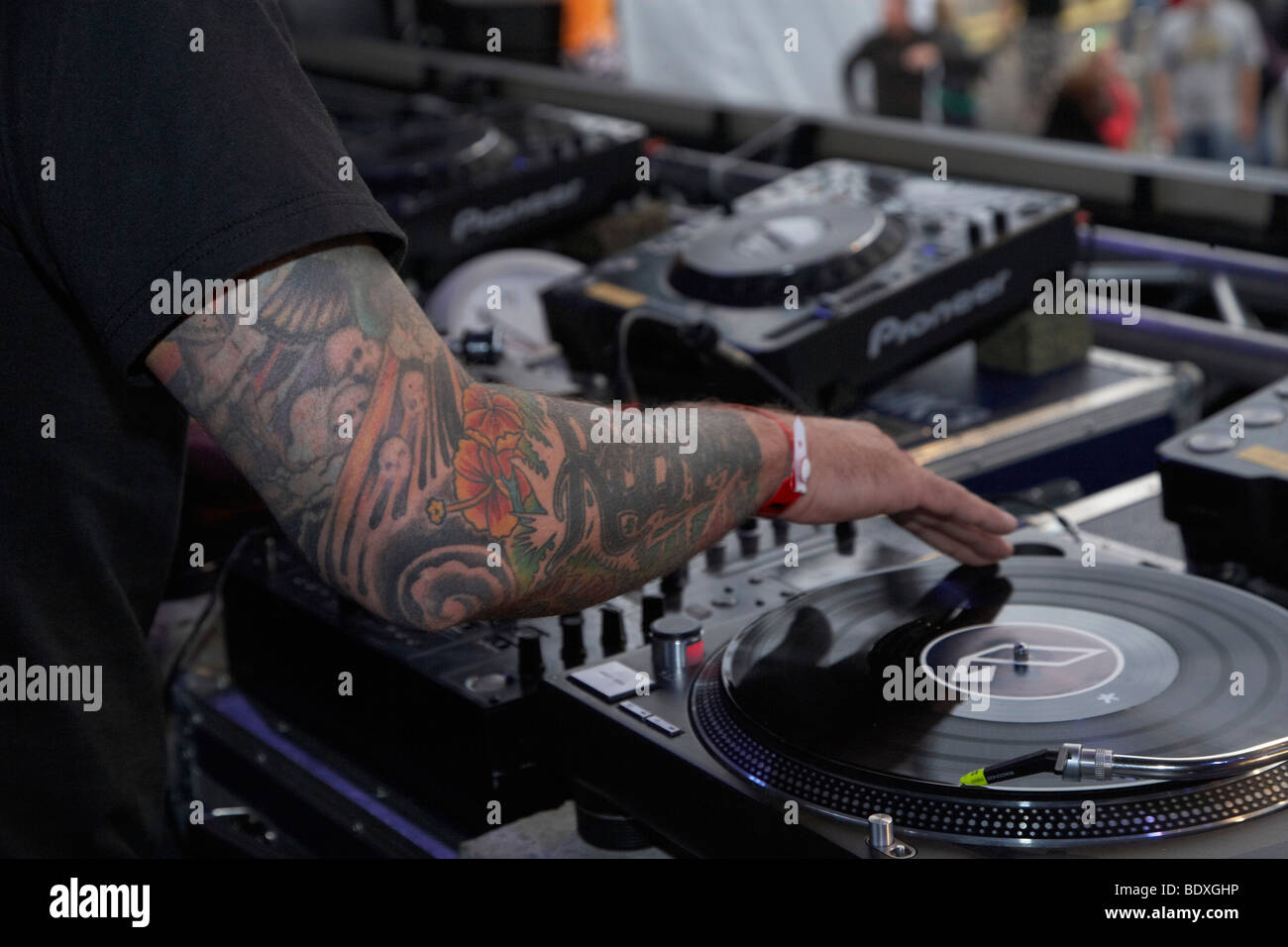 Techno Nature One Festival 2009, DJ Dag, Kastellaun, Rhineland-Palatinate, Germany, Europe - Stock Image