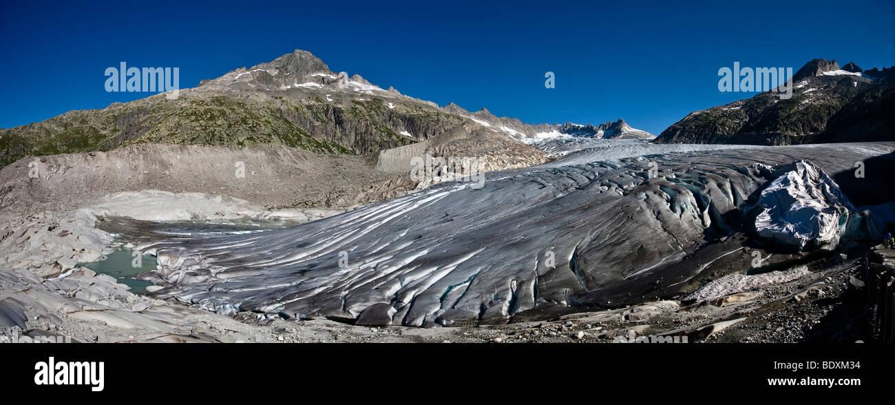 Rhone glacier, 2009, Canton Uri, Switzerland, Europe Stock Photo