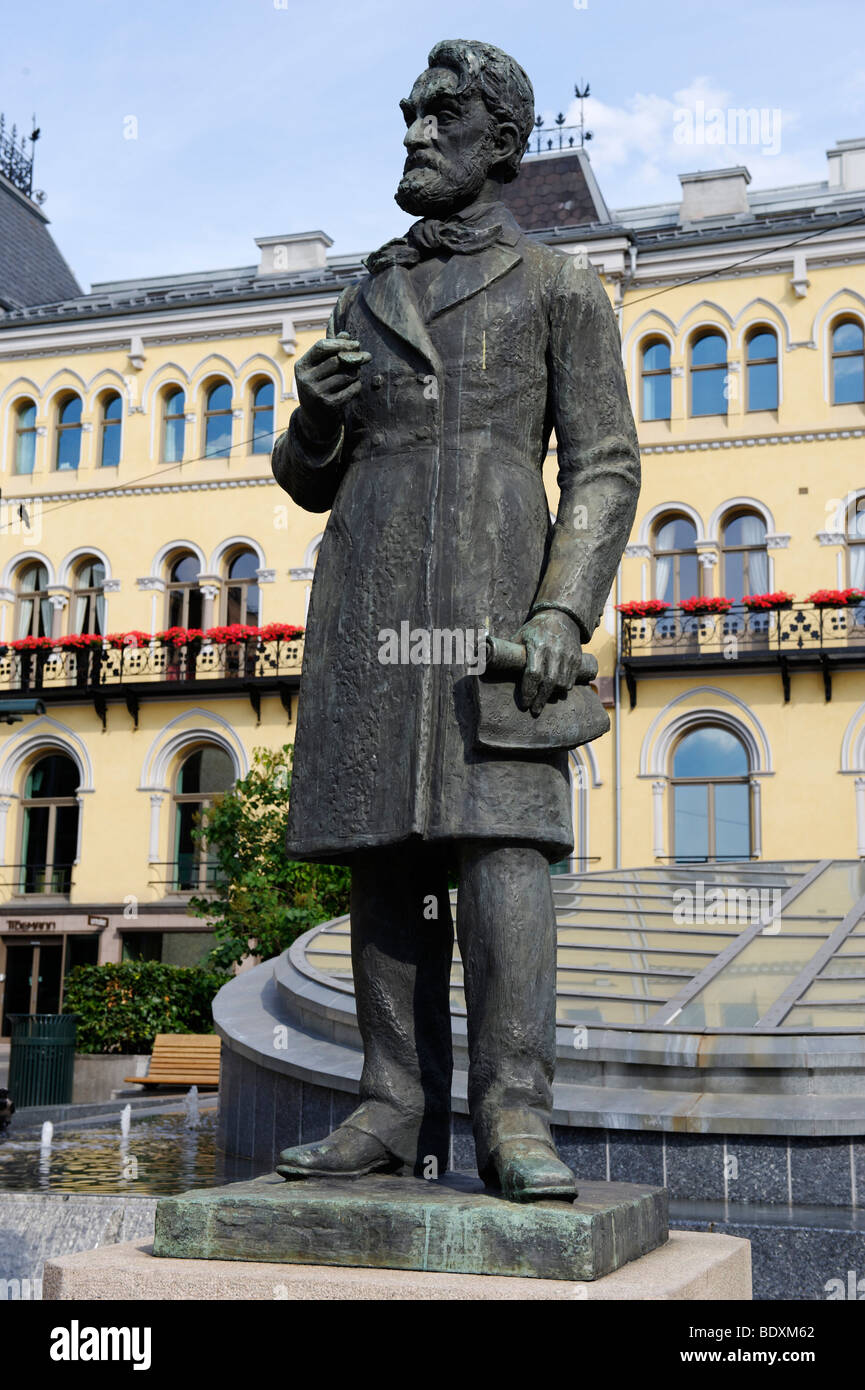 Johan Sverdrup, 1816-1892, first Prime Minister in Norway, memorial, Karl Johans gade, Oslo, Norway, Scandinavia, Stock Photo
