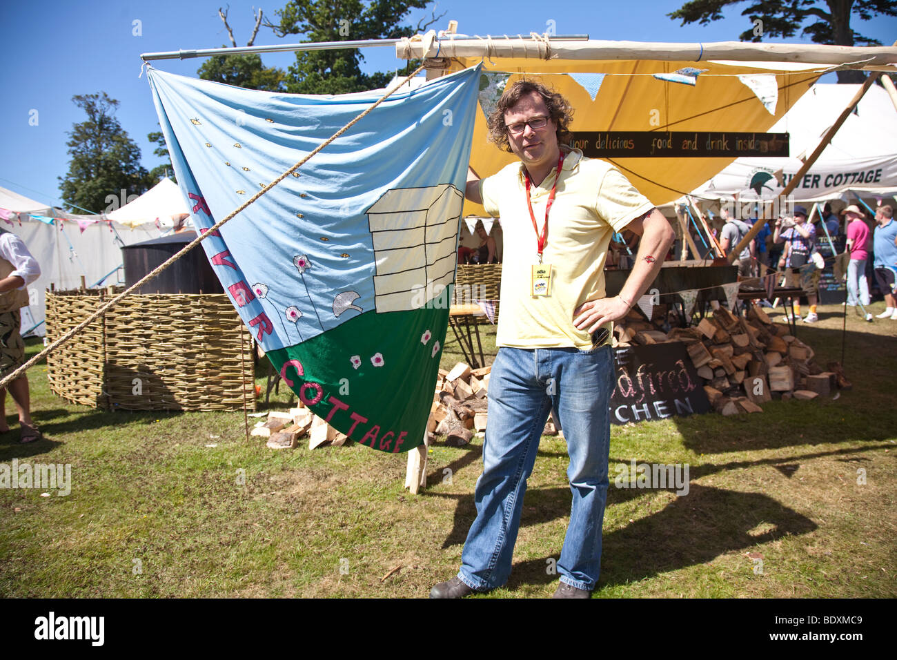Hugh Fearnley Whittingstall at Camp Bestival 2009 at Lulworth Casle in Lulworh, Dorset. - Stock Image