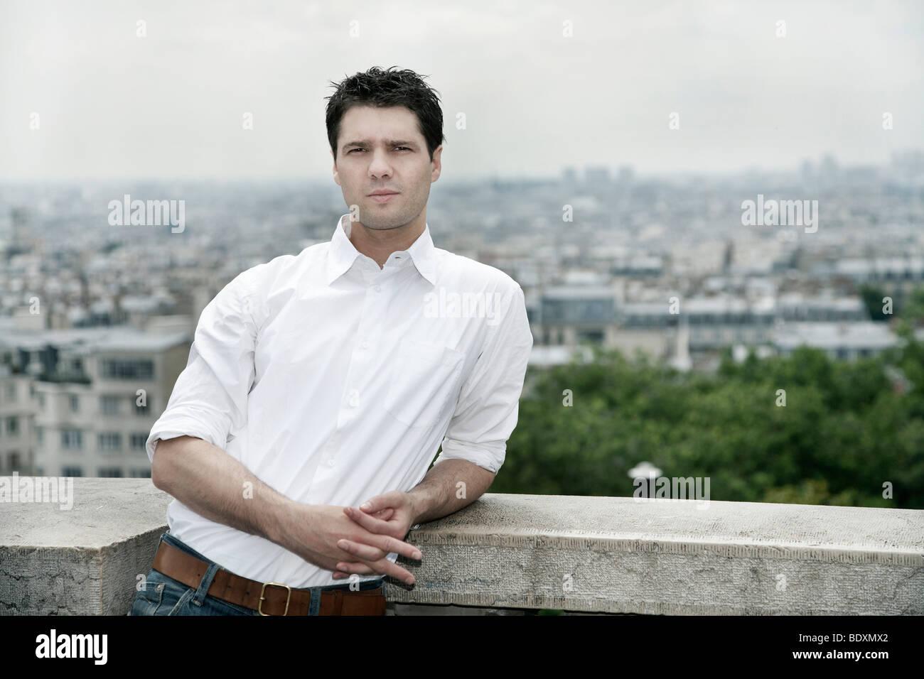 Young man, portrait, Paris, France, Europe Stock Photo
