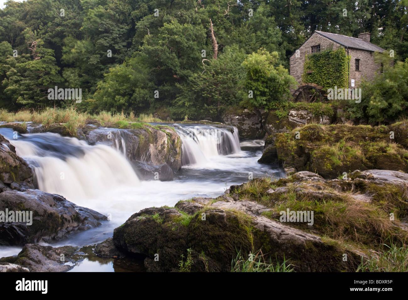 Cenarth Falls on the Afon Teifi, Pembrokeshire, Wales, Uk Stock Photo