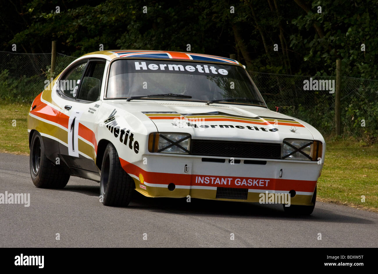 1974 hermetite ford capri mk2 3000 gt with driver holman blackburn at stock photo 25791412 alamy. Black Bedroom Furniture Sets. Home Design Ideas