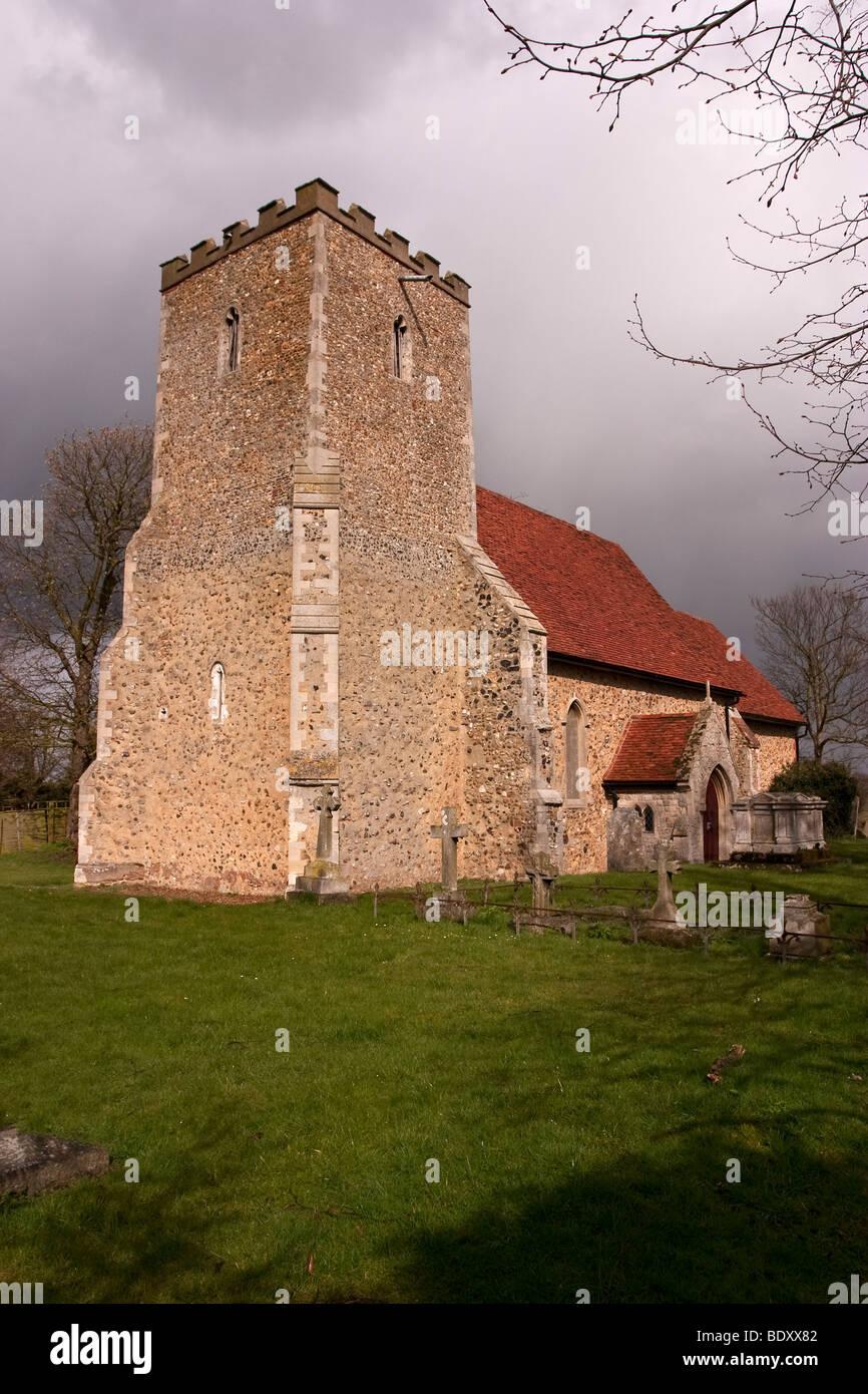 St Laurence Church, Asheldham, Essex, UK - Stock Image