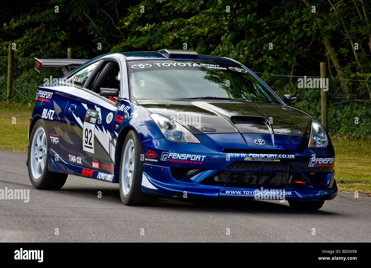 2001 Toyota Celica, 4wd, 576bhp drag racing saloon with driver ...