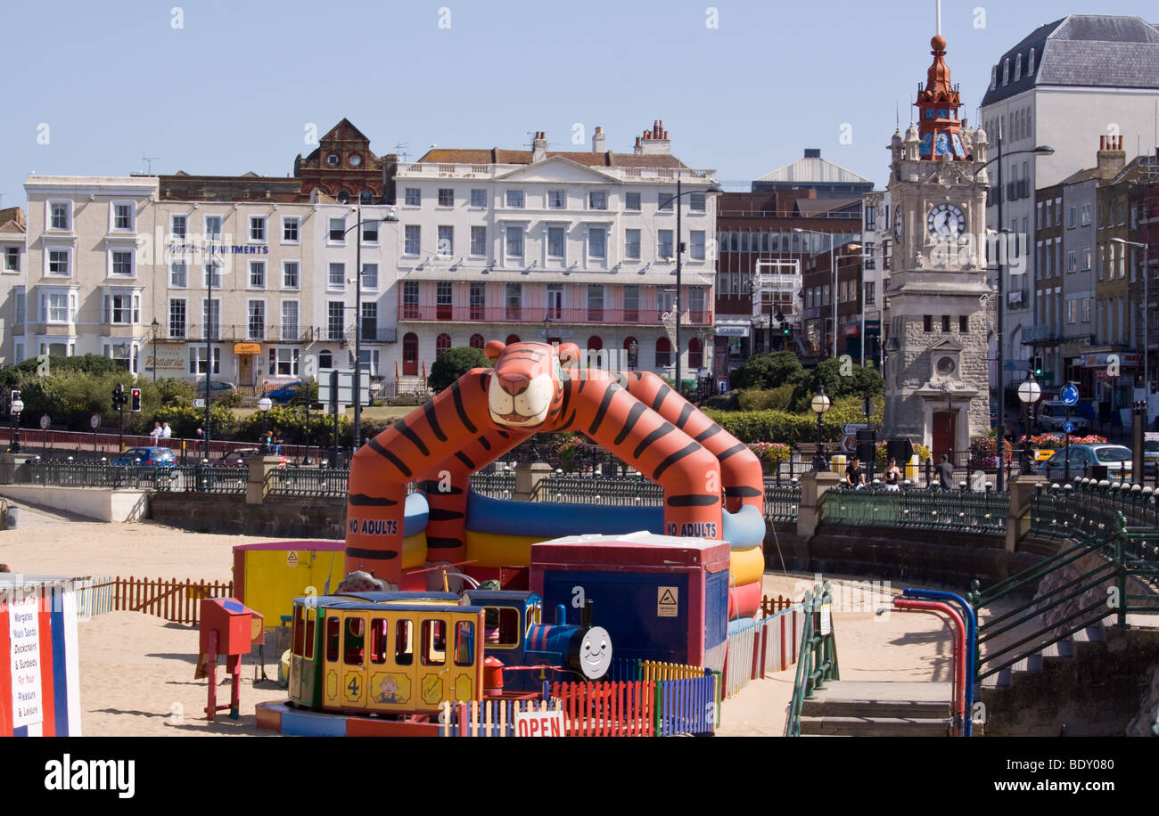 Margate Beach and Amusements - Stock Image