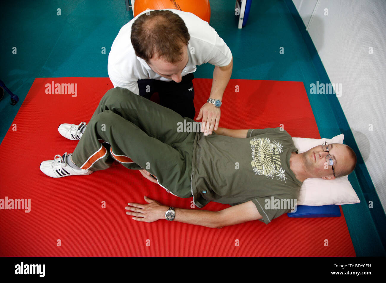 Neurological rehabilitation facility, physiotherapy and medical gymnastics, Bonn, Germany - Stock Image