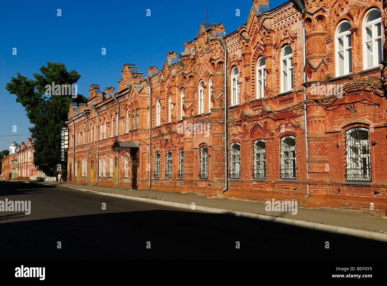 Historic brick building in the historic centre of Bijsk, Siberia ...