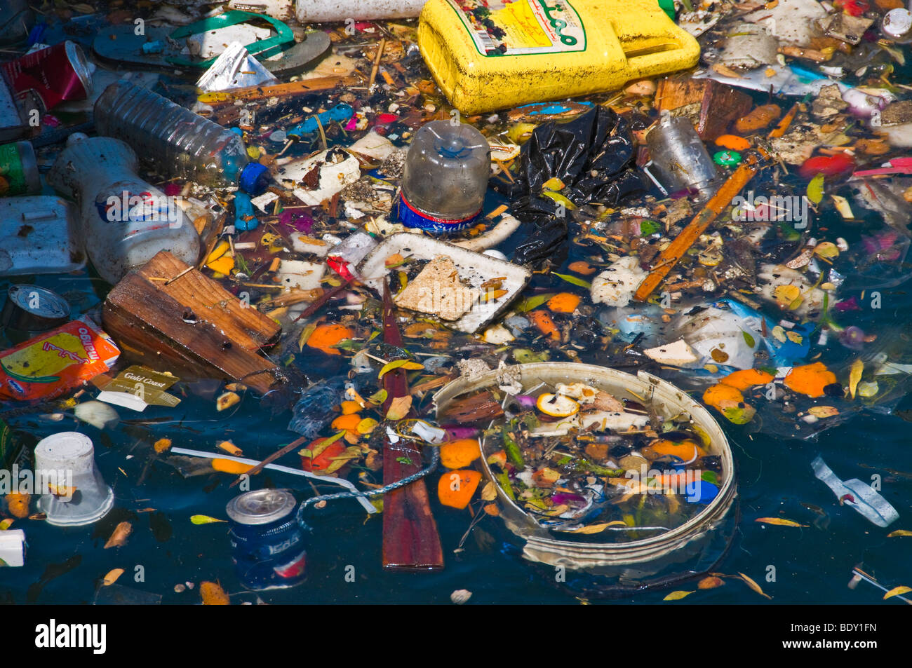 Polluted sea - Stock Image