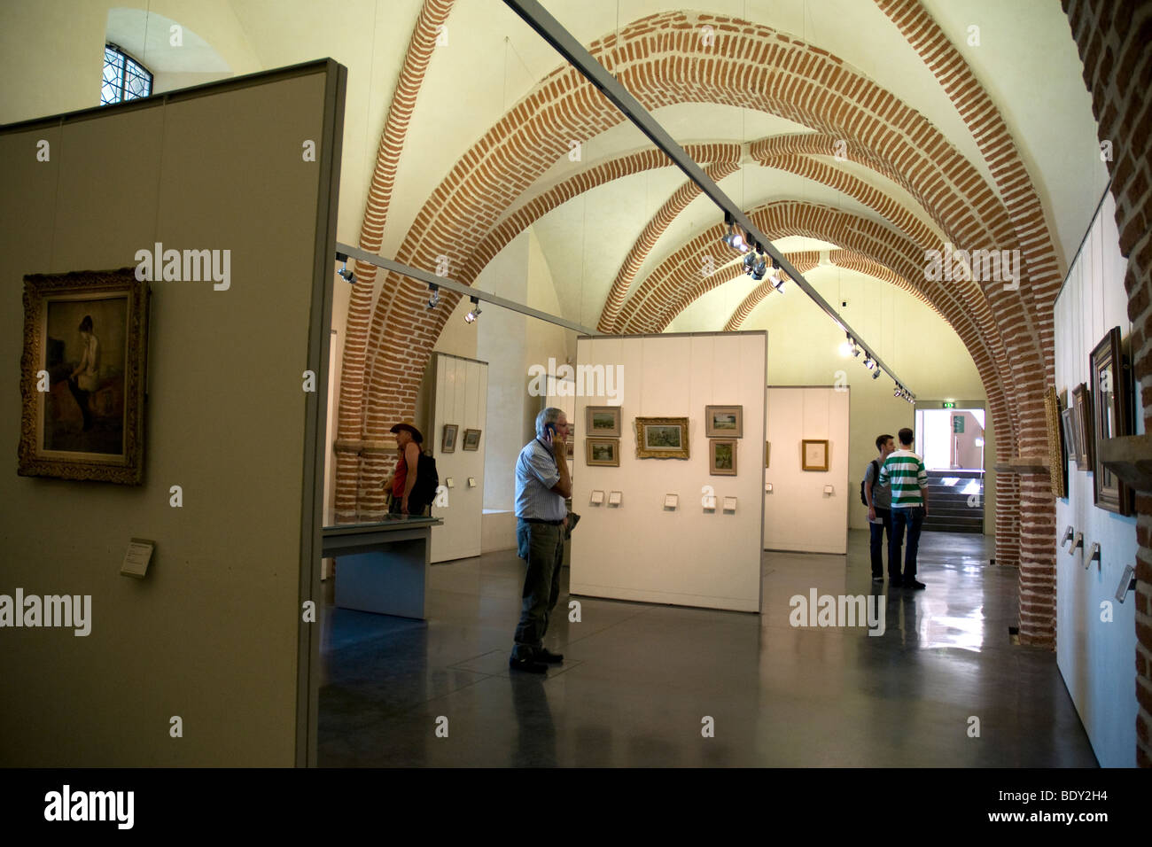 One of the newer galleries in Albi's Touloue-Lautrec museum - Stock Image