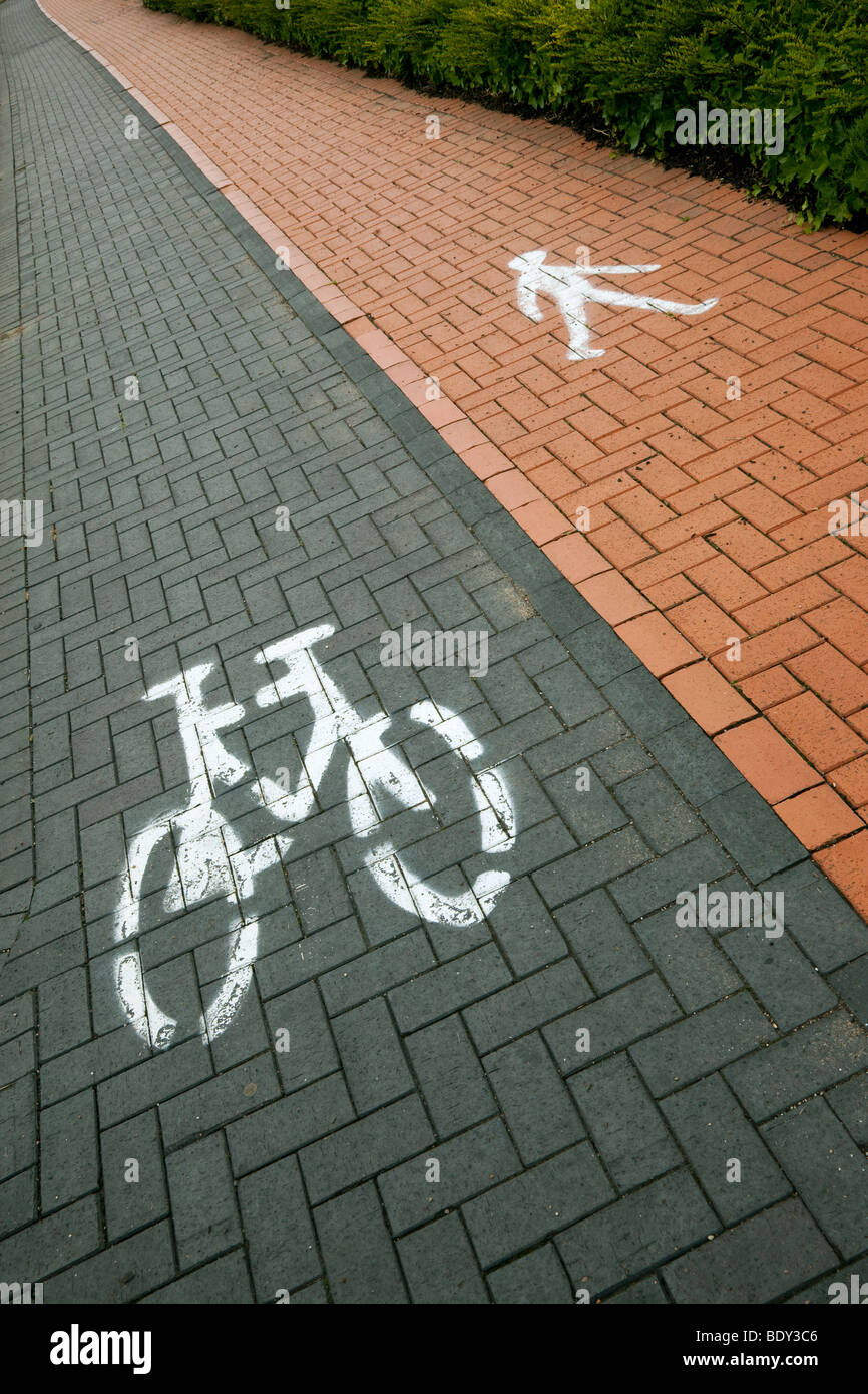 photograph of pedestrian walkway and cycle way - Stock Image