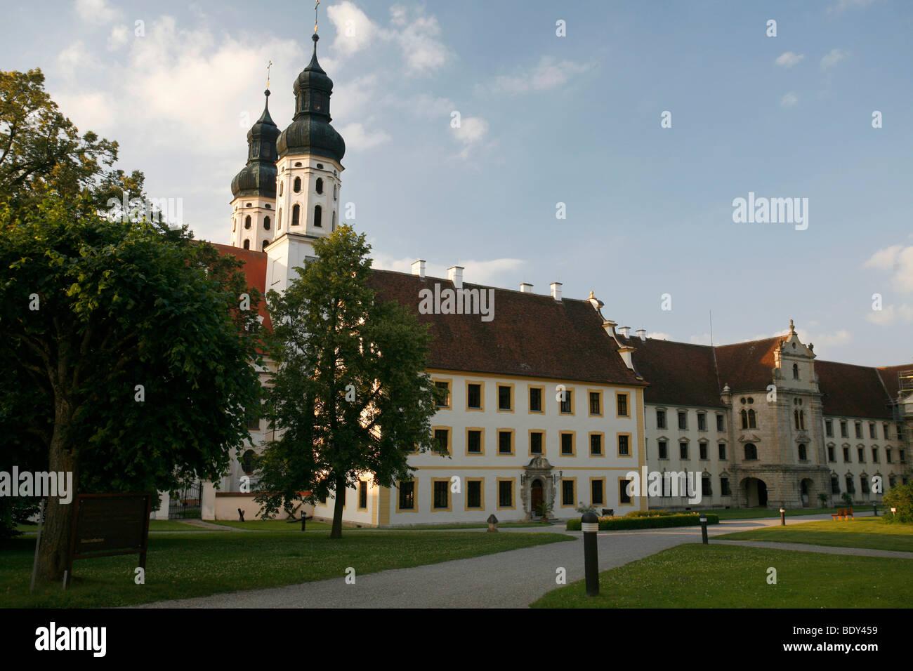 Ecclesiastical Academy of Teacher Education, Church and former monastery Obermarchtal, Alb-Donau-Kreis, Baden-Wuerttemberg, - Stock Image