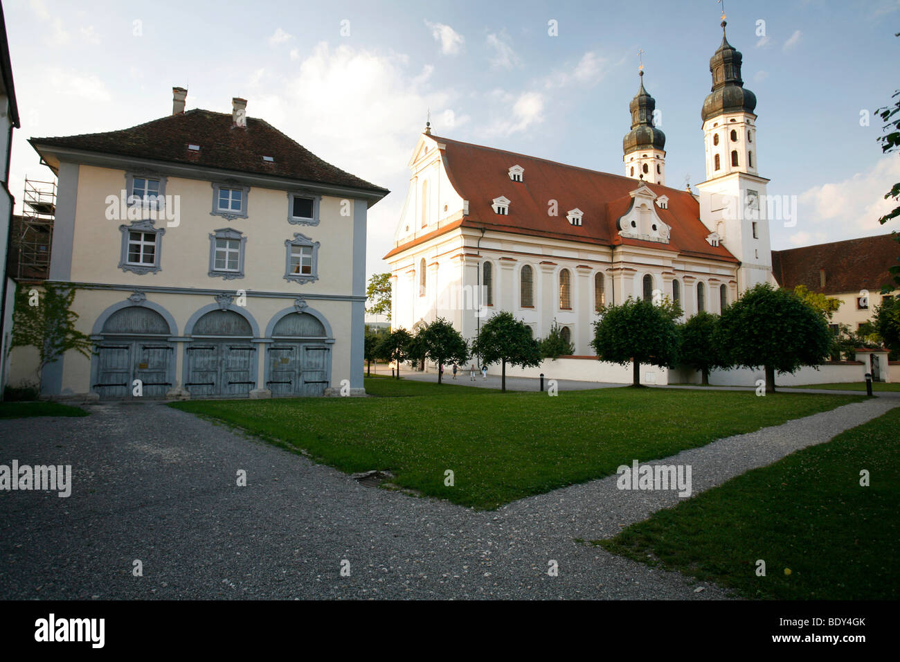 Ecclesiastical Academy of Teacher Education, church and former monastery Obermarchtal, Alb Donau district, Baden - Stock Image
