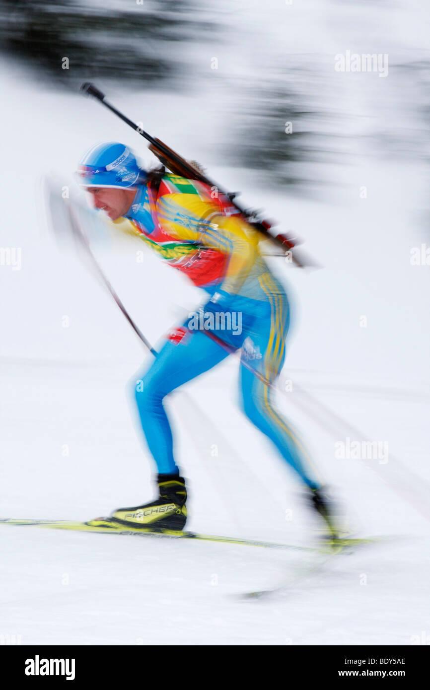 Impression Biathlon World Cup, Training Men, Oberhof 2009, Thuringia, Germany, Europe - Stock Image