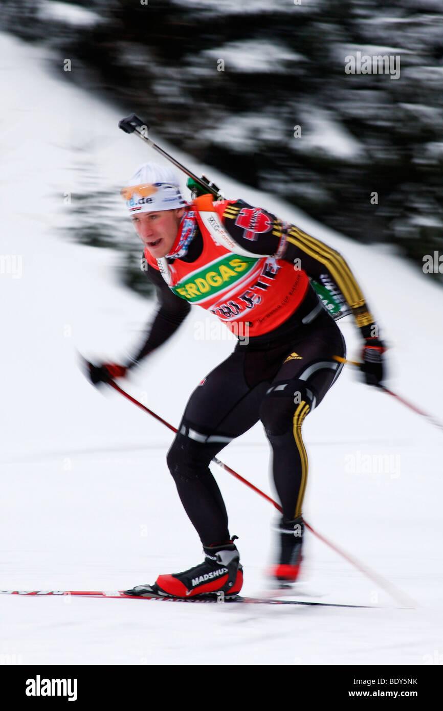 Andreas Birnbacher, German men's national team, Training Men, Biathlon World Cup, Oberhof 2009, Thuringia, Germany, - Stock Image