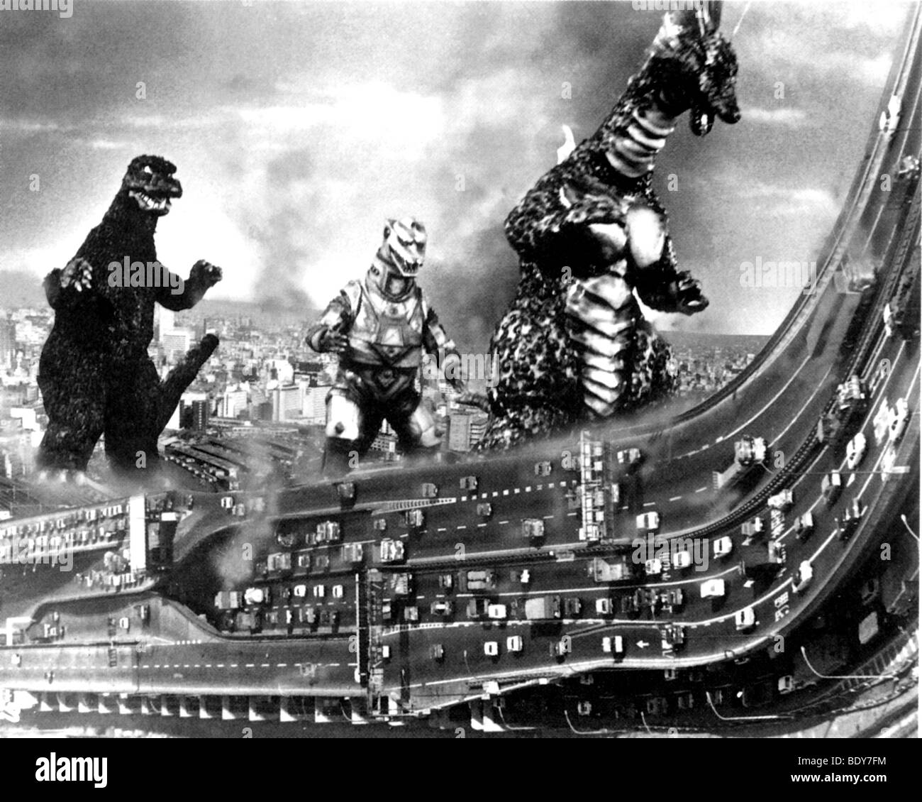 THE TERROR OF MECHAGODZILLA  aka Monsters From An Unknown Planet - 1975 Tohoscope film - Stock Image