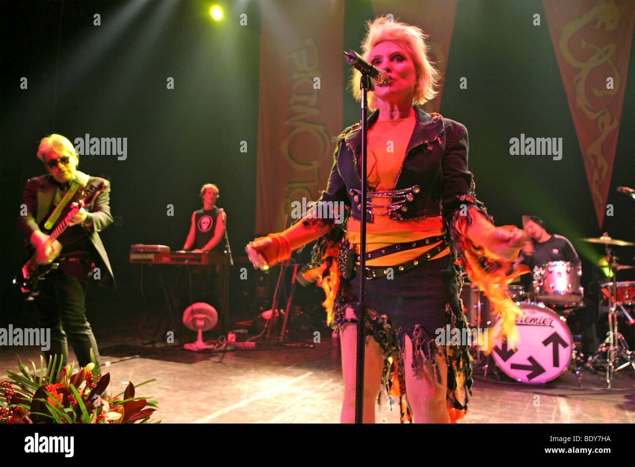BLONDIE - US rock group with Debbie Harry  about 2003 - Stock Image