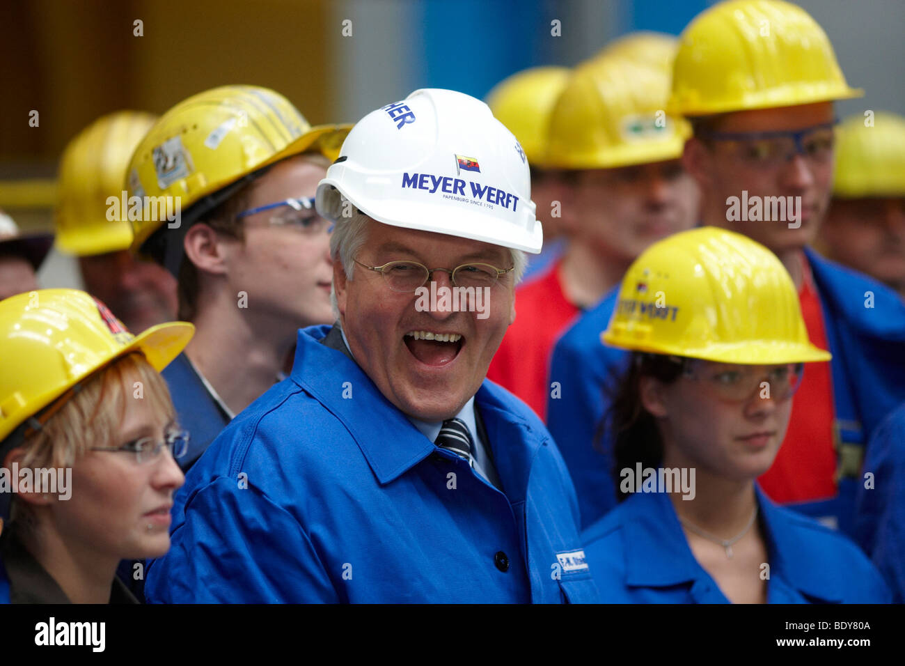 German Foreign Minister, Vice-Chancellor and SPD Chancellor Candidate Frank-Walter Steinmeier during a visit to - Stock Image
