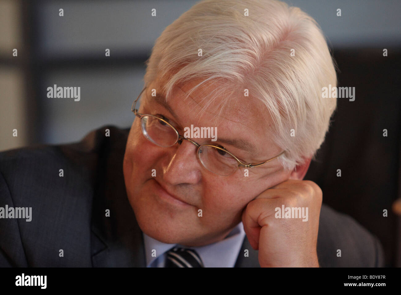 German Foreign Minister, Vice-Chancellor and SPD Chancellor Candidate Frank-Walter Steinmeier visiting Hooksiel - Stock Image
