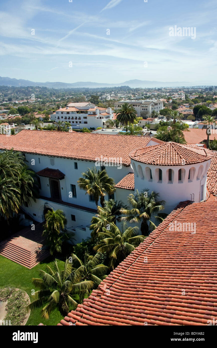 View of Santa Barbara from the courthouse - Stock Image