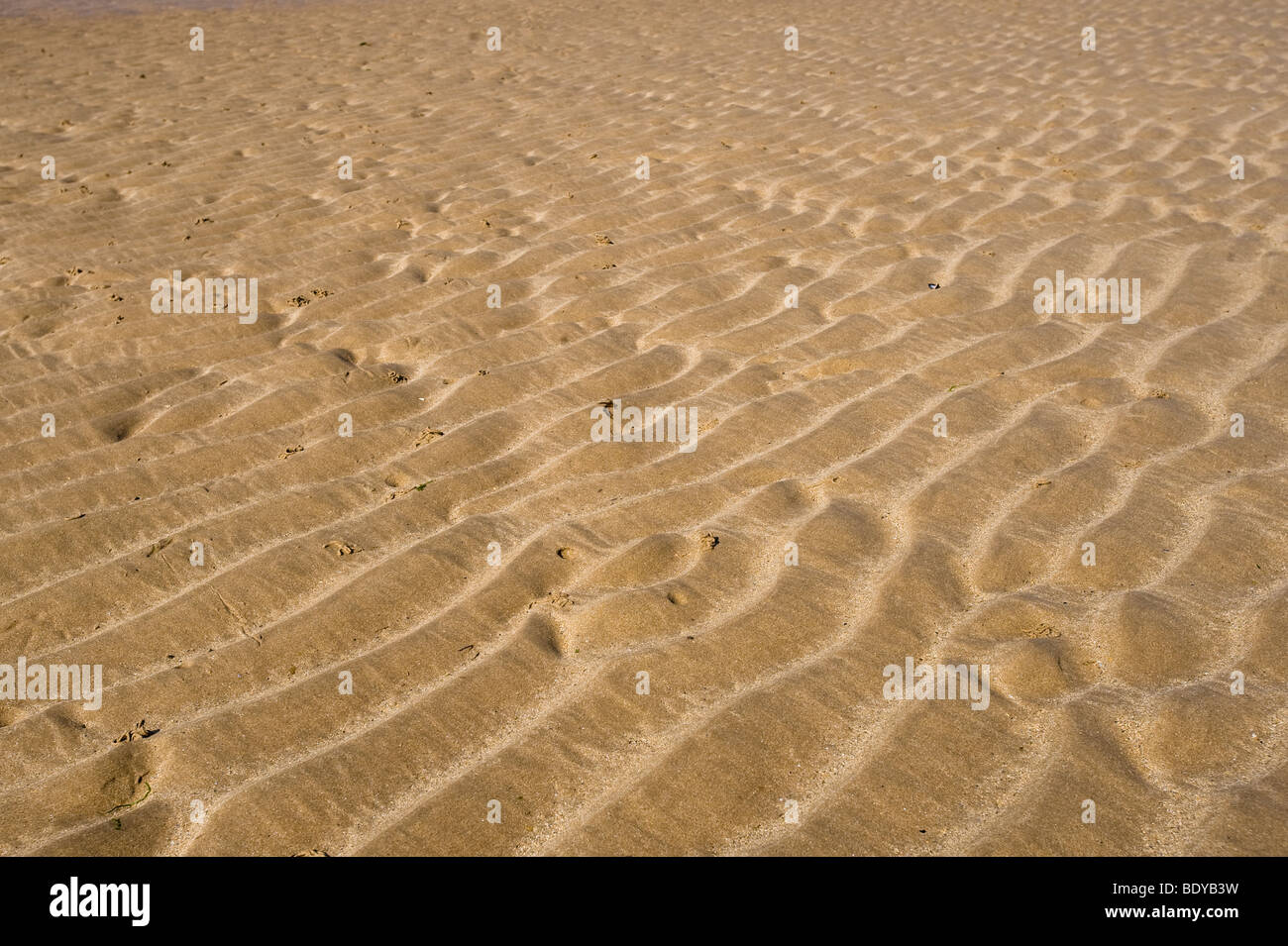 Ripples in sand, Normandy, France, Europe - Stock Image