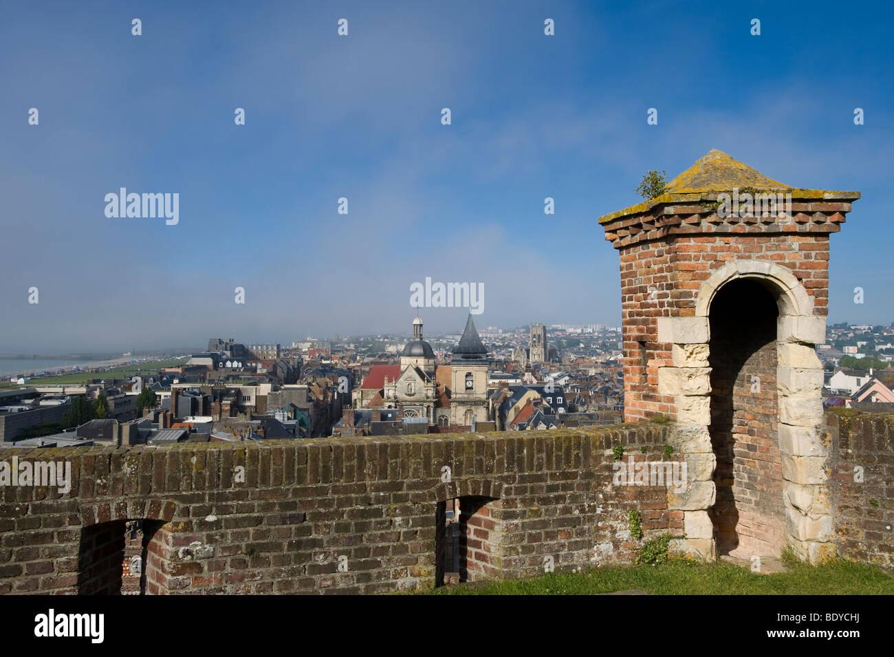 View of Dieppe, Nord-Pas-de-Calais, France, Europe - Stock Image
