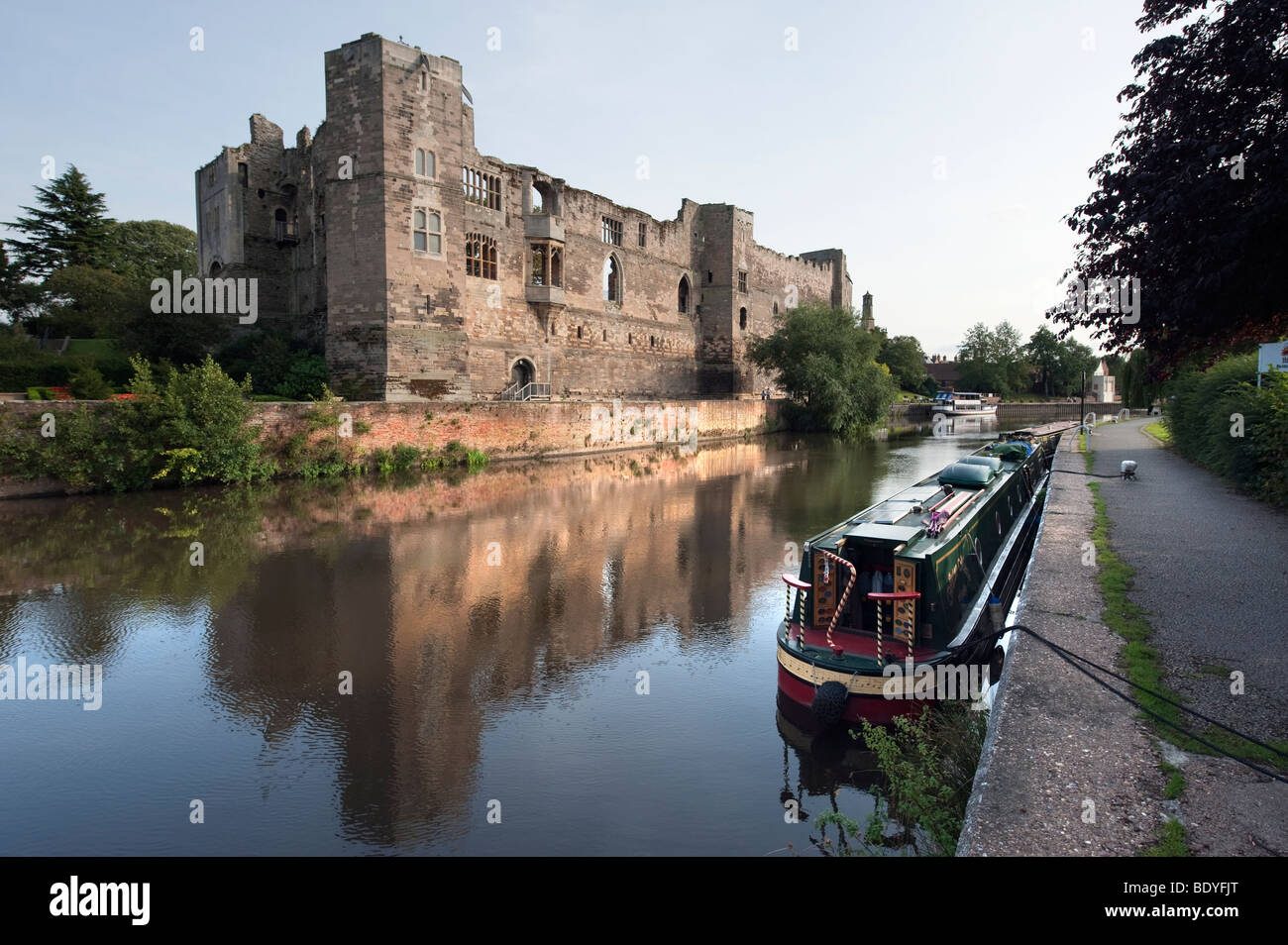 Newark Castle by the 'River Trent',Nottinghamshire,England,'United Kingdom','Great Britain',GB,UK,EU - Stock Image