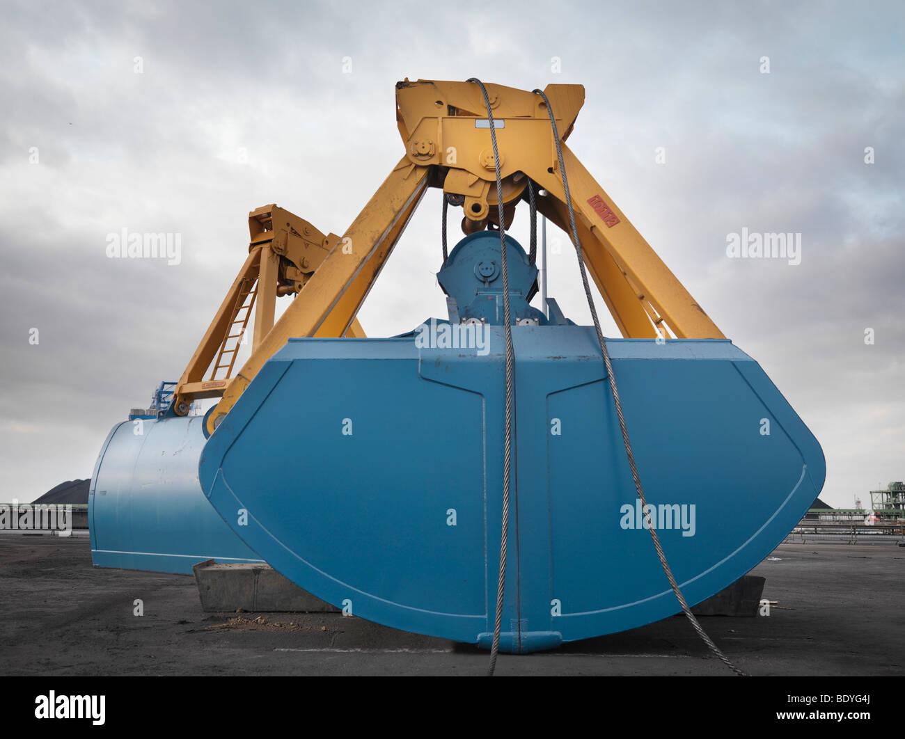 Crane Grab At Port - Stock Image