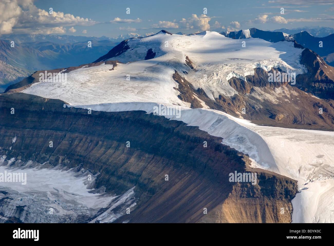 Aerial view of Nizina Mountain, Wrangell-St. Elias National Park Alaska - Stock Image