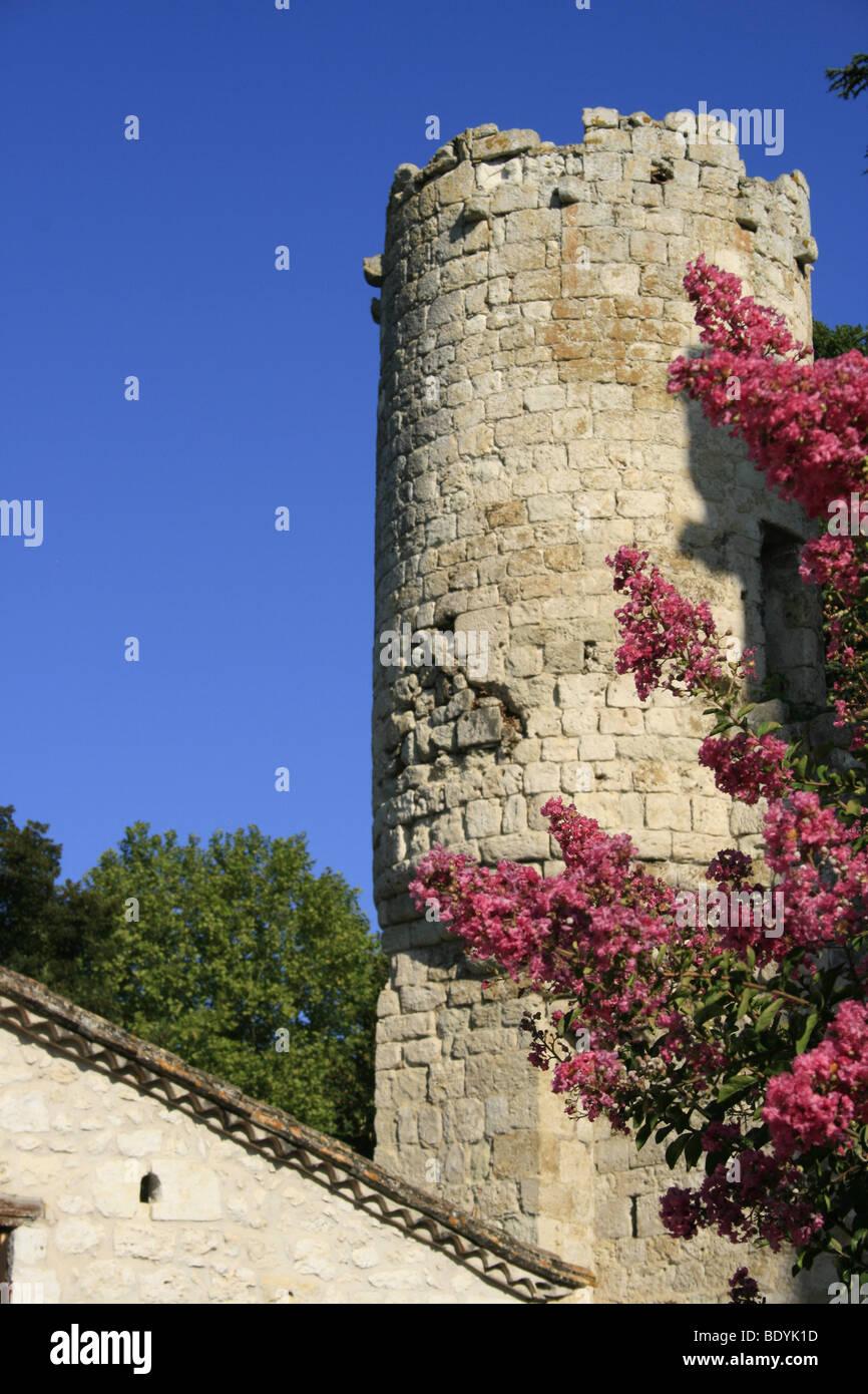 Chateau de la Bastide d'Eymet, Dordogne Stock Photo