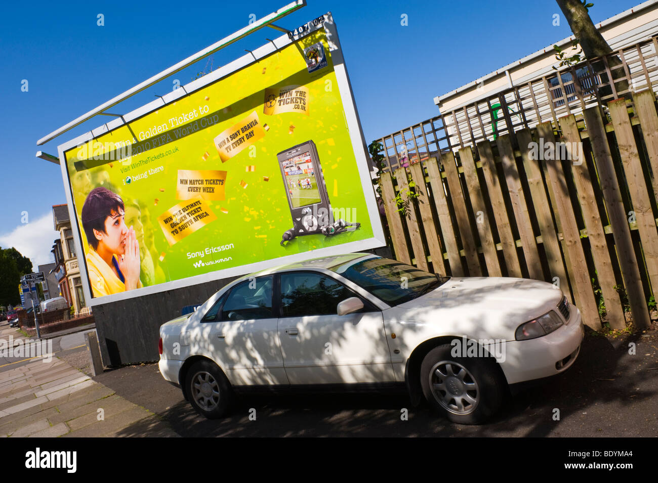 JCDecaux billboard for Sony Ericsson Walkman in UK - Stock Image
