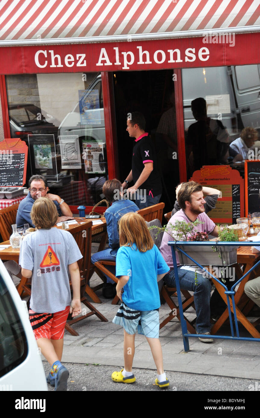 Restaurant Chez Alphonse Limoges Limousin France - Stock Image