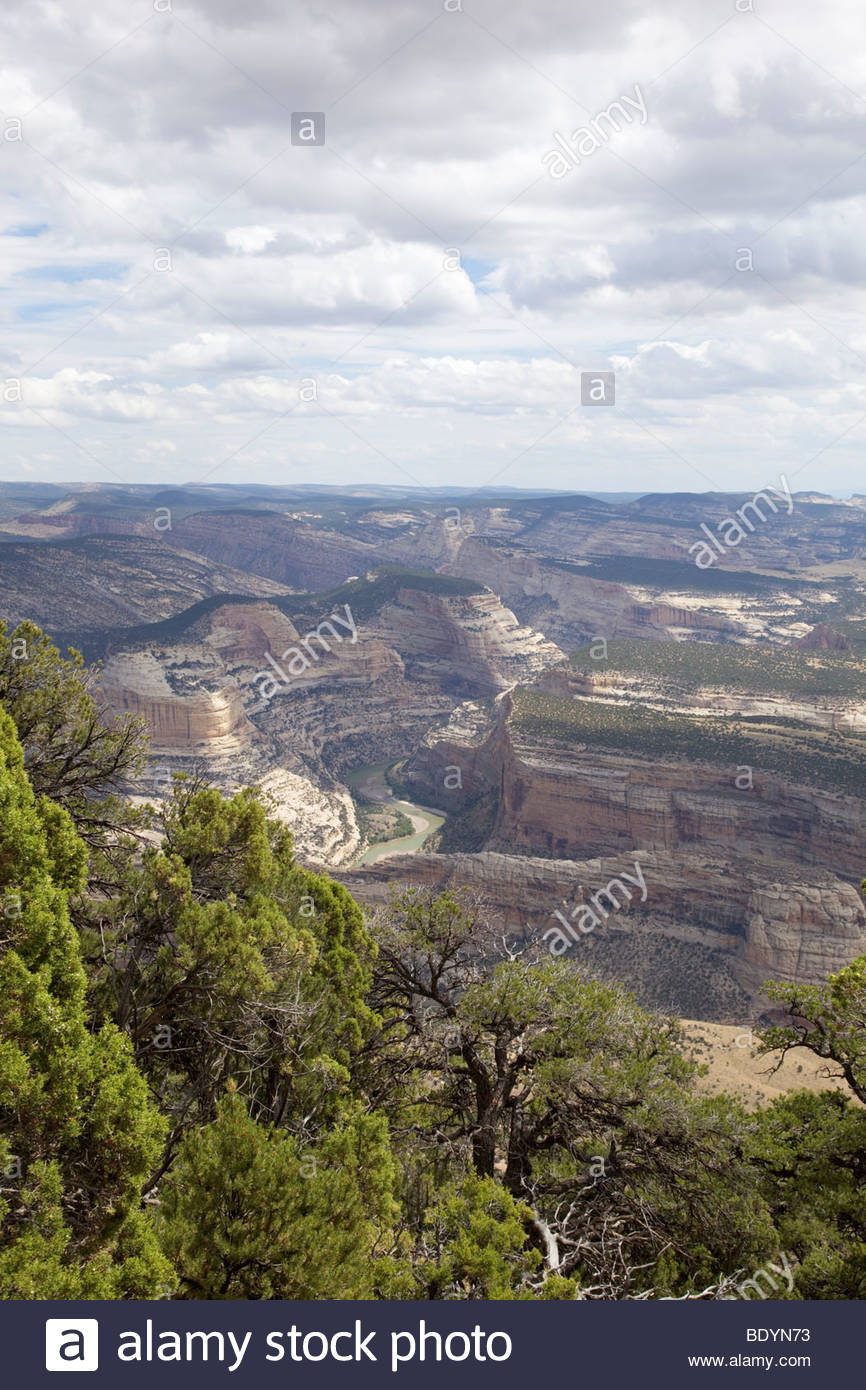 Yampa; River; from; Harpers; Corner; Trail; Dinosaur; National; Monument; Colorado; - Stock Image