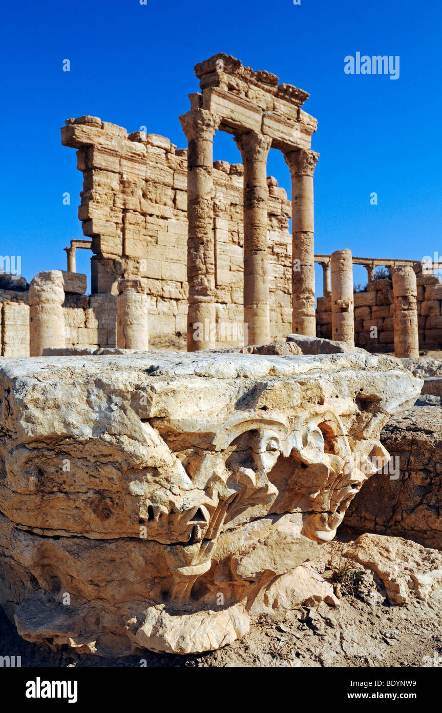 Ruins of the Palmyra archeological site, Tadmur, Syria, Asia - Stock Image