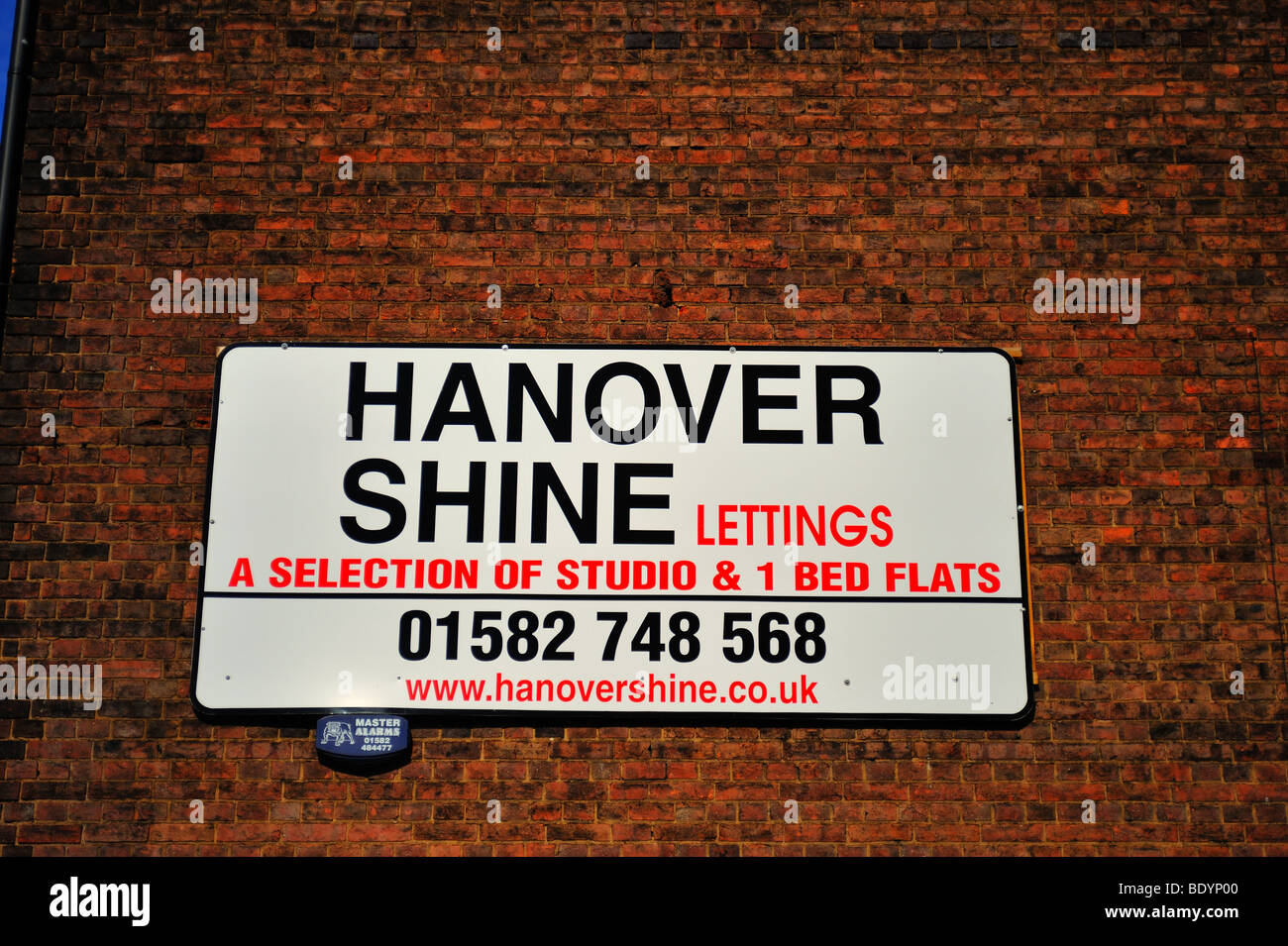 Lettings Sign in Luton - Stock Image