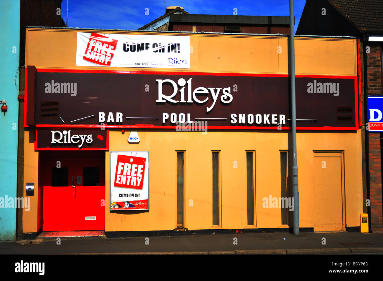 Rileys Bar Pool Snooker Hall - Stock Image