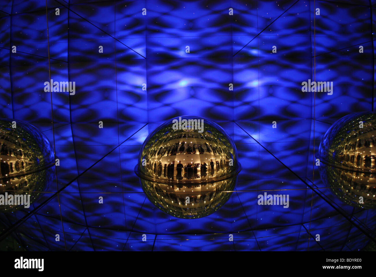 Optical illusion at The Camera Obscura Edinburgh - Stock Image