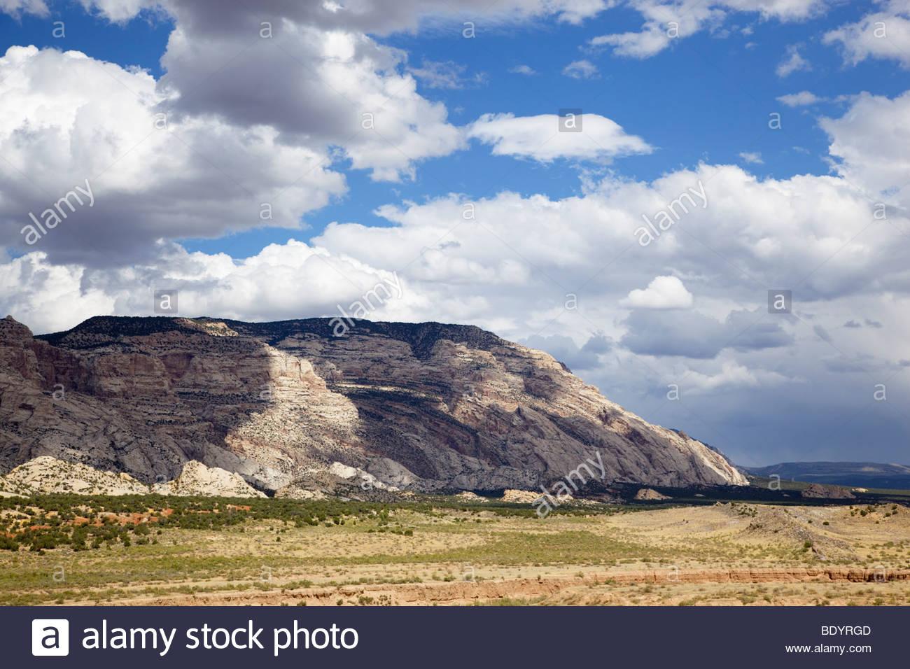 Blue; Mountain; Anticline; up; thrust; Utah; - Stock Image