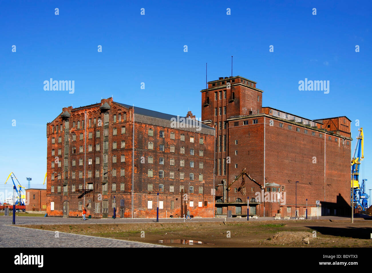 Old reservoir houses / Wismar - Stock Image