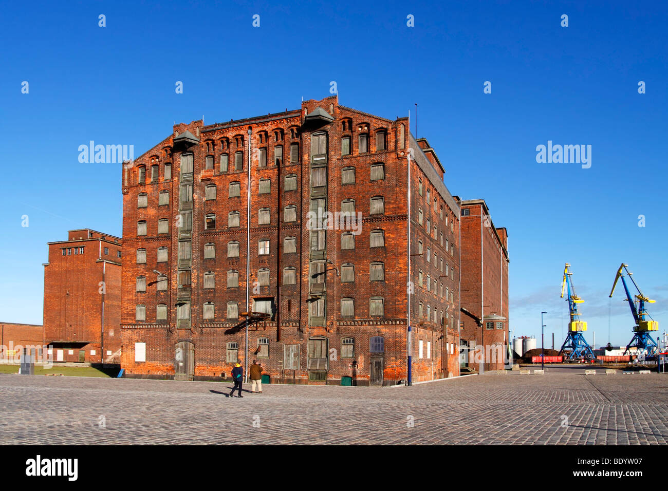 Old reservoir houses / Wismar Stock Photo