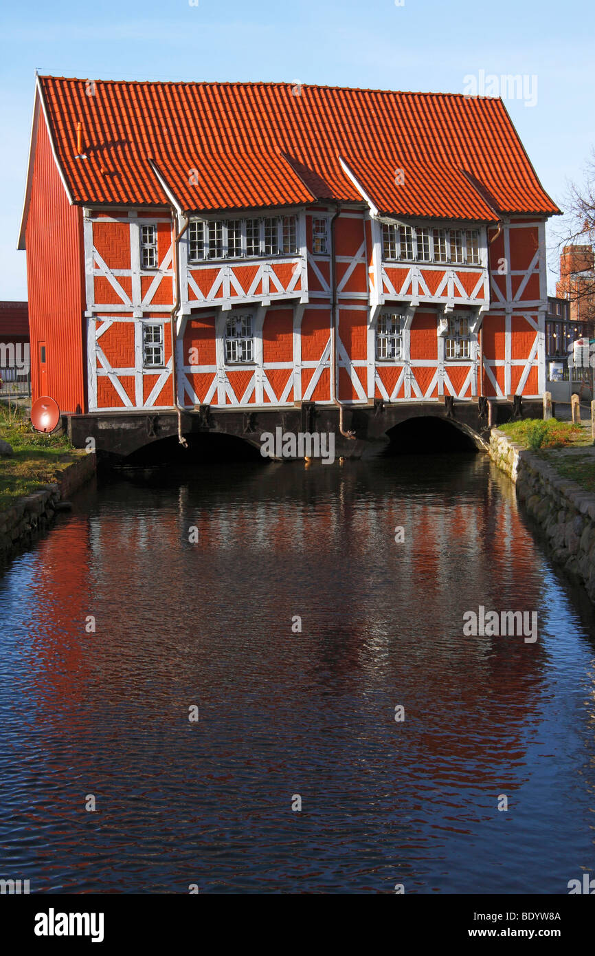 Timber-framed house 'Gewolbe' / Wismar - Stock Image