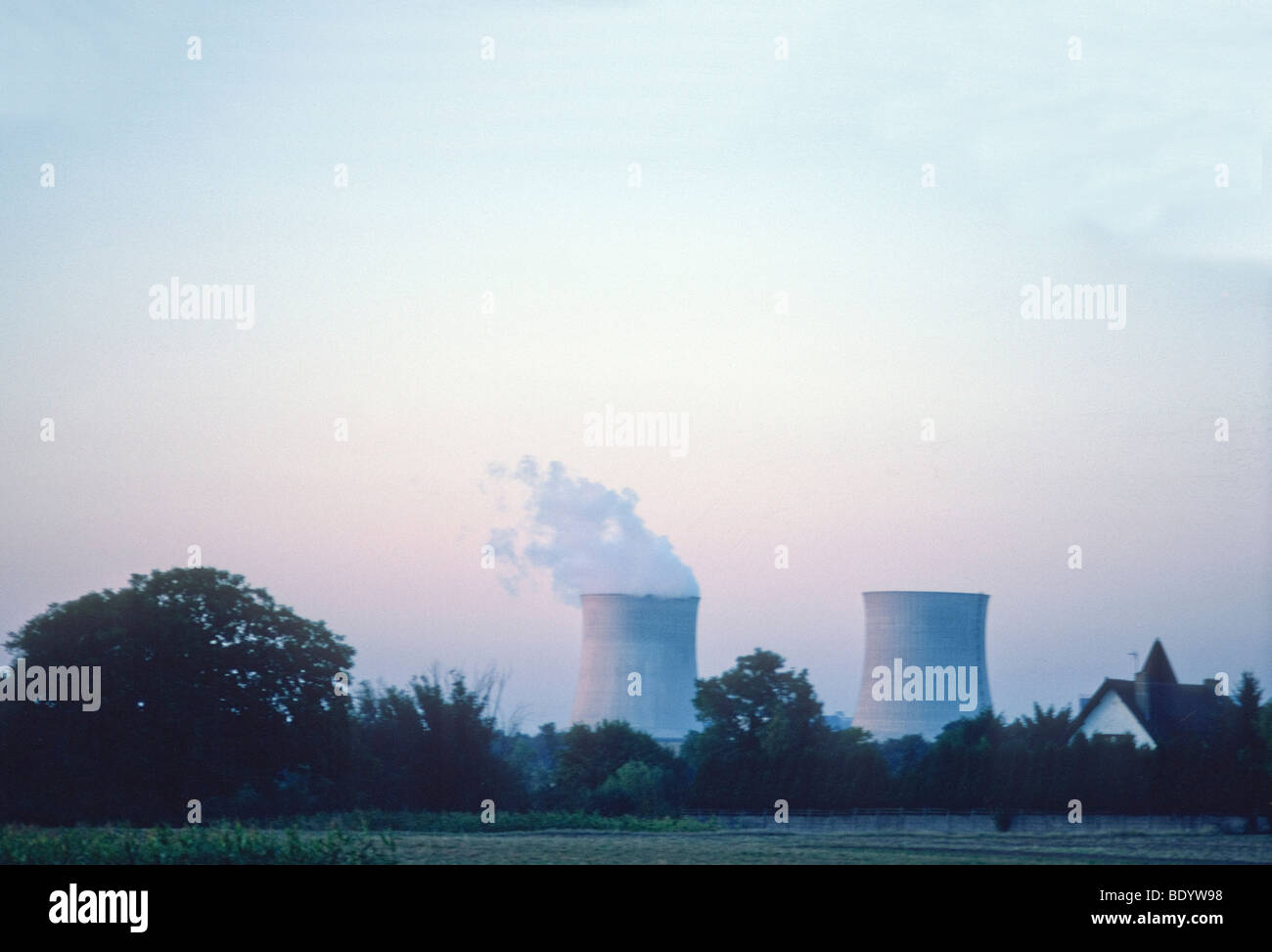 Nuclear facility in Central France, Loire Valley - Stock Image