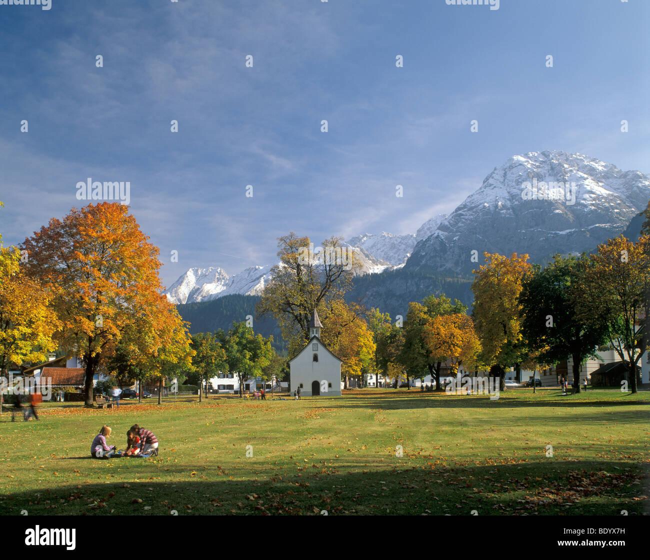 Municipality of Ehrwald, Mt. Daniel, Tyrol, Austria, Europe - Stock Image