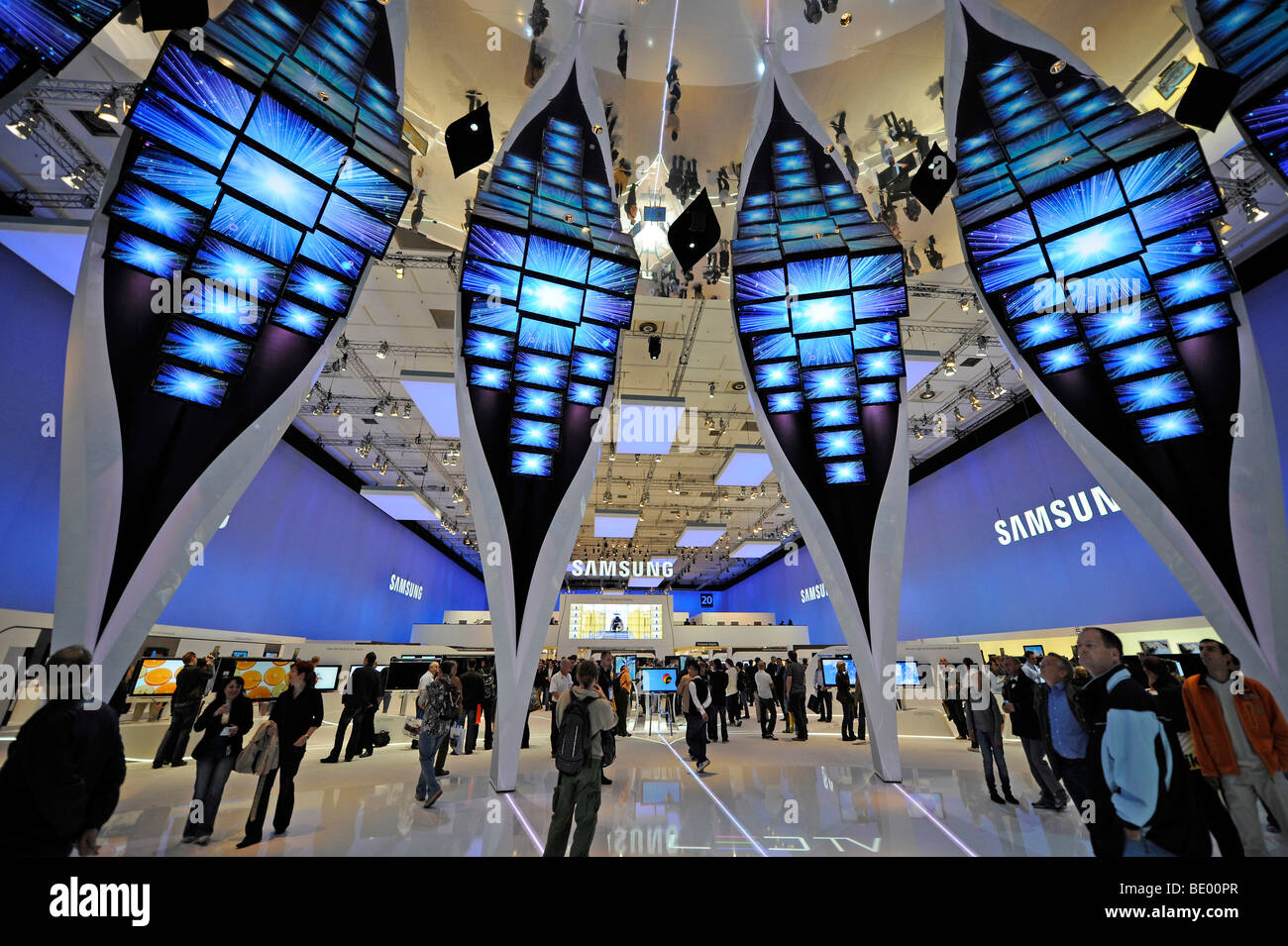 exhibition hall of samsung at the ifa internationale funkaustellung stock photo 25816191 alamy. Black Bedroom Furniture Sets. Home Design Ideas