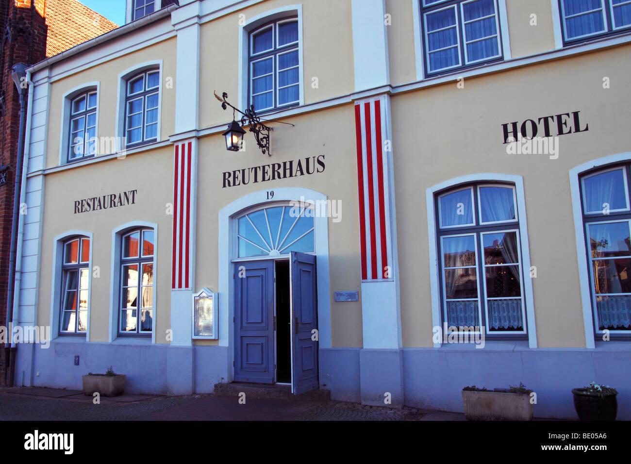 Restaurant Reuterhaus / Wismar Stock Photo