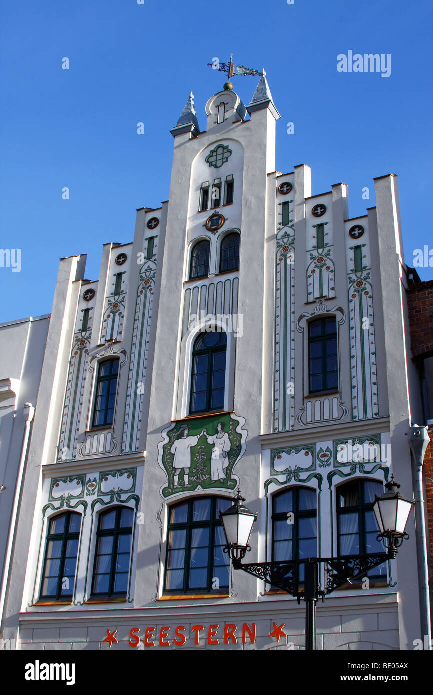 Restaurant and cafe 'Seestern' / Wismar - Stock Image
