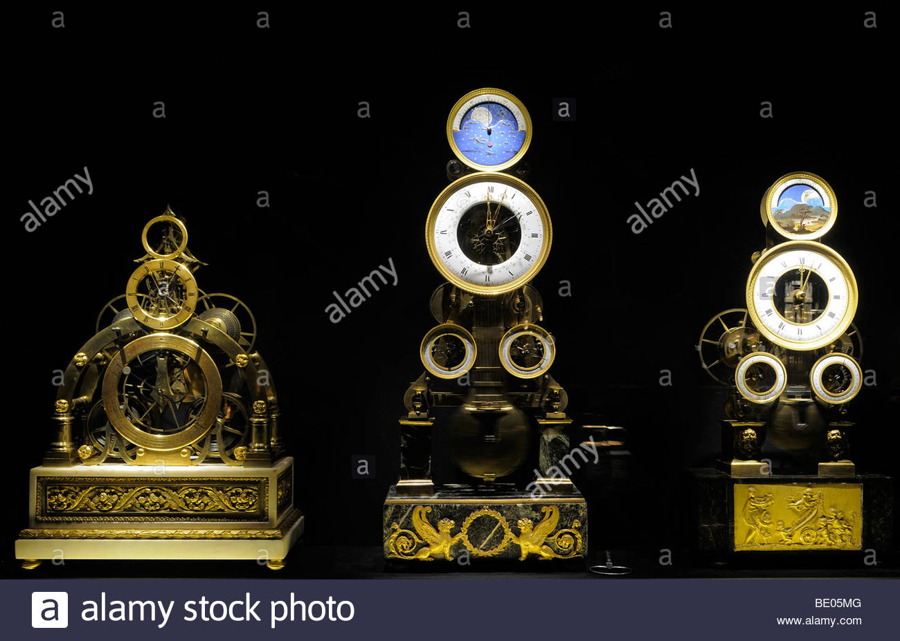 Antique Watches & Clocks displayed at the L.A Mayer Museum of  Islamic Art in west Jerusalem Israel - Stock Image
