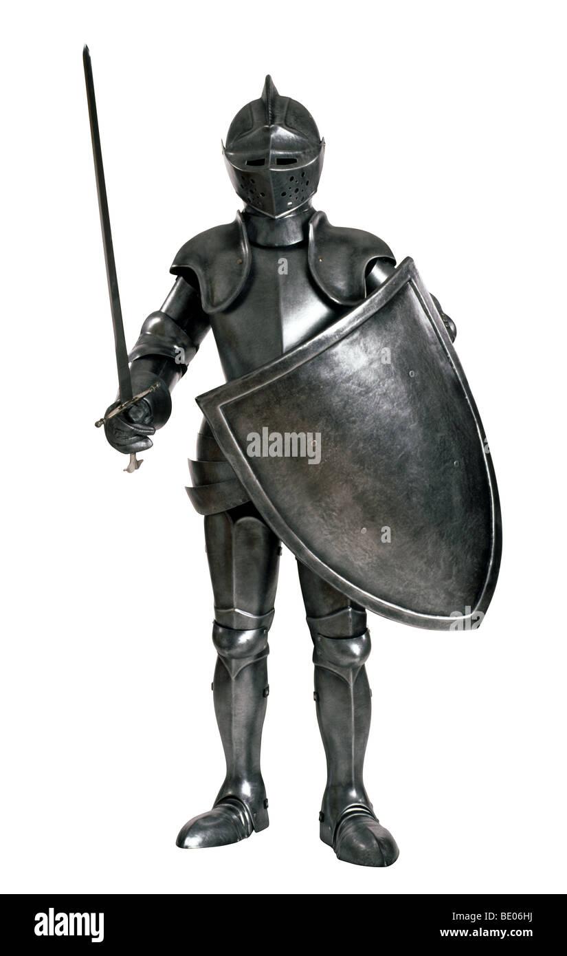 Knight in shining Armor - Stock Image