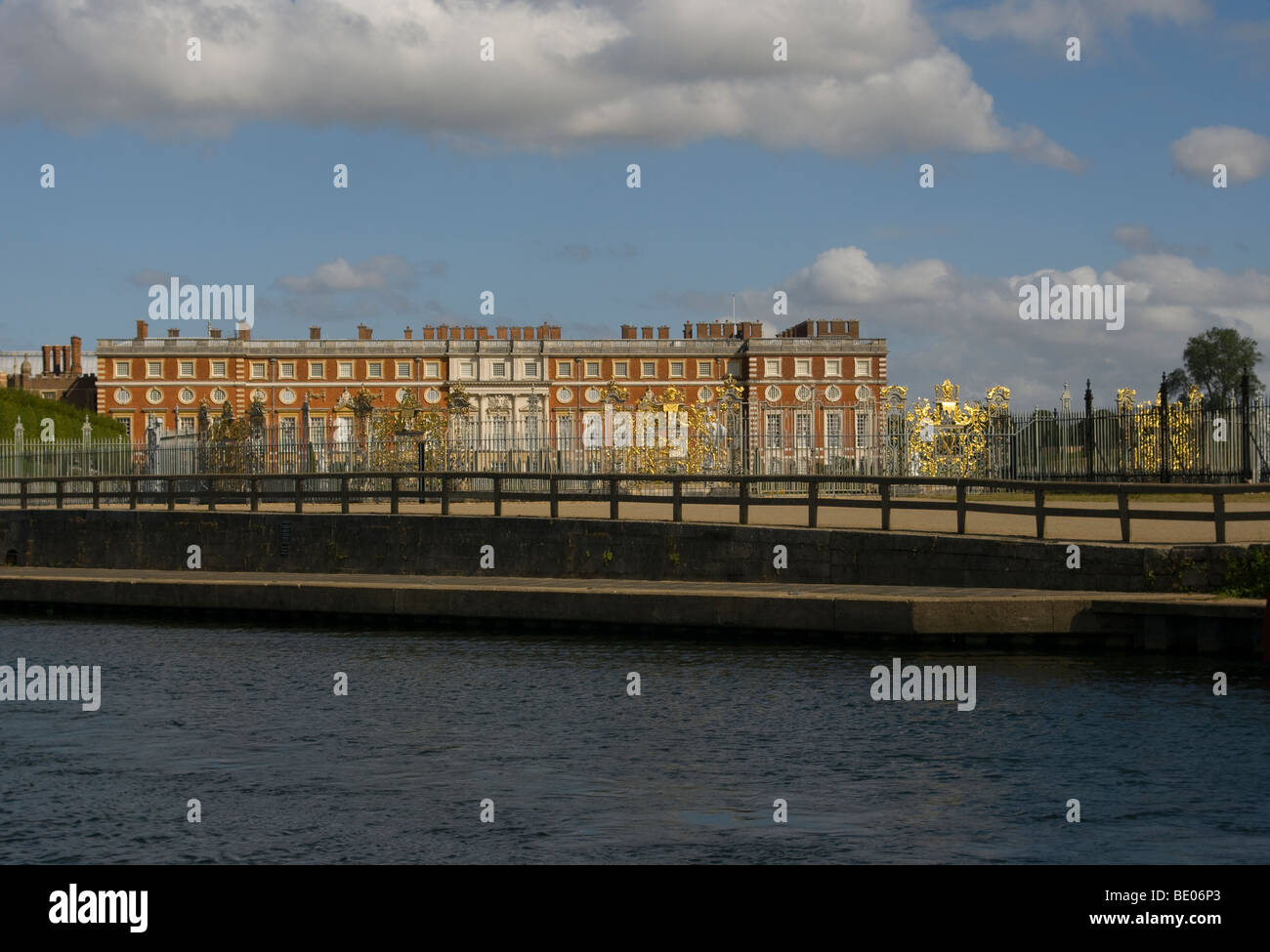 Hampton Court Palace As Seen From The River Thames Surrey England Stock Photo