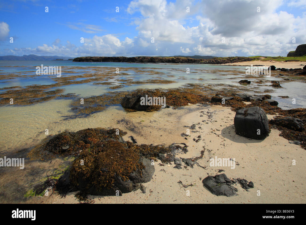 The beach at Port na Ba on the North West coast of the Isle of Mull, Scotland. - Stock Image